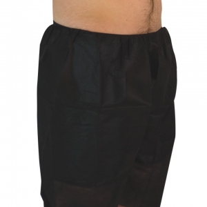 Econo Black Disposable Boxer Shorts