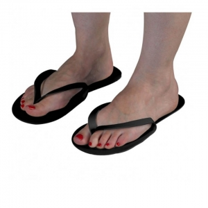 Disposable Black Flip Flops