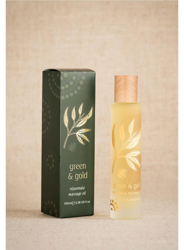 Outback Green and Gold Rejuvenate Massage Oil