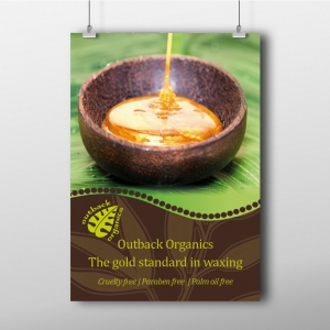 Outback Organics Gold Poster