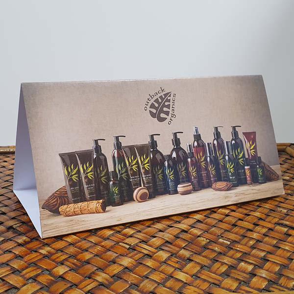 Outback Organics Front Desk Card